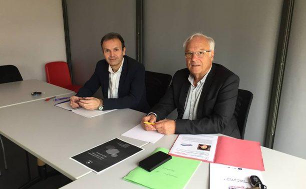 Christian Combaret, président délégué et Eric Lestrade, responsable du service juridique.