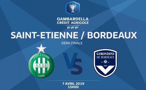 Affiche Gambardella Saint-Etienne contre Bordeaux