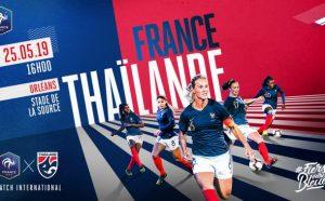 affiche du match france thaïlande 2019